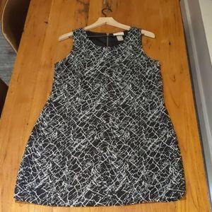 Kenar Black & White Pattern Dress